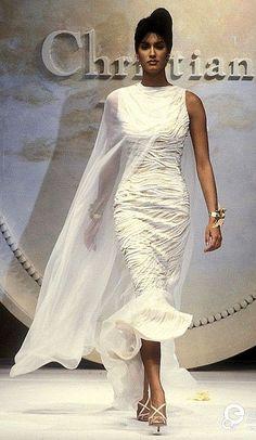 Yasmeen Ghauri -  Christian Dior, Spring -Summe, Couture 1993