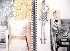 Fashion Sketchbook - fashion design & development with fabric manipulation experimentation // Hayley Cornish
