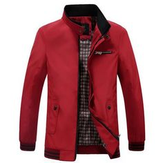 Casual Jackets, Winter Jackets, Men's Jackets, Business Casual Jacket, Winter Outfits, Winter Clothes, Mens Windbreaker, Men's Coats, Military Fashion