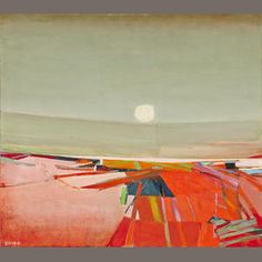 Raimonds Staprans (born 1926) The White Sun, 1967  signed and dated 'Staprans-67' (lower left) oil on canvas 38 x 48in. (96.5 x 121.9cm) Estimate: US$ 10,000 - 15,000 £6,200 - 9,400 €7,400 - 11,000