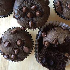 Skinny Fudgy Chocolate Banana Muffins