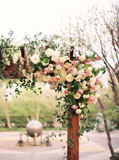 Elegant floral-adorned arbor: http://www.stylemepretty.com/texas-weddings/dallas/2015/08/10/dreamy-romantic-dallas-garden-wedding-in-shades-of-pink/ | Photography: Apryl Ann - http://www.aprylann.com/