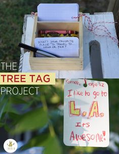 The Tree Tag Project, or how to Surprise your neighbors and get them talking | Tinkerlab