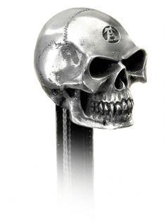 """""""Alchemist"""" Gear Knob by Alchemy of England #inkedshop #gearknob #alchemist #skull #cool"""