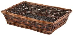 STAINED WILLOW TRAY BASKET - PERFECT FOR 3 BOTTLES OF WINE
