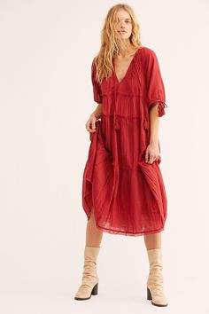 554d796ef15c Celestial Skies Midi Dress | Free People Vacation Dresses, Vacation Style,  Tie Shorts,
