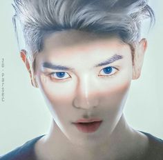 NCT Taeyong with blue eyes Taemin, Sehun, Nct Group, Nct Ten, Lee Taeyong, Kpop Aesthetic, Boyfriend Material, Nct Dream, Love