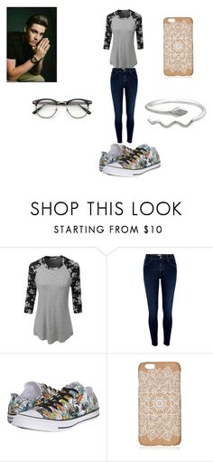 """Autumn time"" by thevamps1993 on Polyvore featuring LE3NO, River Island y Converse"