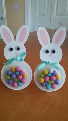 Easter treats. Stampin up punches and sweet treat cups.