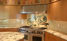 Glass Backsplash unbelievable!!