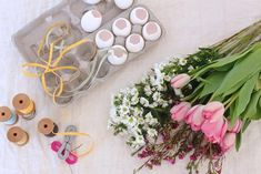 materials for Hanging Easter Posies: Gardenista