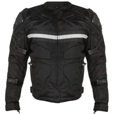 Xelement CF-751 Men's Black Motorcycle Breathable Level-3 Armored Tri-Tex Jacket - Color : black - Size : Large