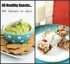 Snacktime doesn't need to be boring or unhealthy. These 50 healthy snack ideas, each 100 calories or less, will help to keep things interesting.