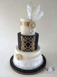 Great Gatsby Style Cake