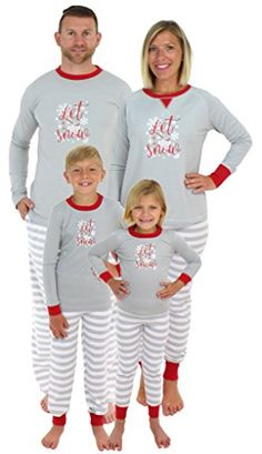 13fbb022ed online shopping for Family Matching Christmas Pajamas Holiday Xmas Let It  Snow Sleepwear Nightgown Set from top store. See new offer for Family  Matching ...