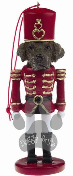 Chocolate Labrador Dog Toy Soldier http://doggystylegifts.com/products/chocolate-labrador-dog-toy-soldier