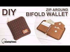 I made a simple wallet with zipper. You can make your own wallet yourself. sewingtimes show you how to make it easy. Diy Wallet Pouch, Diy Wallet Easy, Simple Wallet, Fabric Wallet, Wallet Tutorial, Sewing Headbands, Handmade Purses, Wallet Pattern, Bag Making