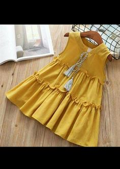 Ideas Sewing Patterns For Baby Clothes Toddler Dress Girls Frock Design, Kids Frocks Design, Baby Frocks Designs, Baby Dress Design, Baby Girl Frocks, Frocks For Girls, Dresses Kids Girl, Kids Outfits, Girls Dresses Sewing