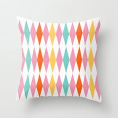 spring diamonds Throw Pillow by Her Art - $20.00
