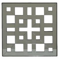 """Featuring a latticed silhouette and mirrored finish, this elegant wall decor offers captivating appeal for your home. Display it alone to create an eye-catching focal point, or add it to the hall gallery for a distinctive touch.     Product: Set of 2 wall decorConstruction Material: Wood and mirrored glassColor: SilverDimensions: 16"""" H x 16"""" W x 1"""" D"""