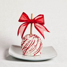 White Chocolate Peppermint Gourmet Chocolate Caramel Apple, Candy Apple, Caramel Apple. $7.99, via Etsy.