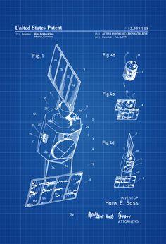 Communication Satellite Patent - Space Art  Space Poster Space Program Rockets Aircraft Decor Aviation Art Blueprint Pilot Gift by PatentsAsPrints