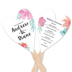 Heart Wedding Program - Create using the A7 Cards Mats-Heart Pinnovation die from AccuCut Craft