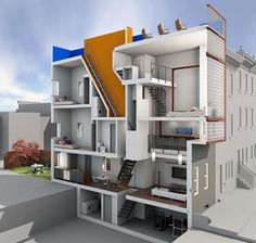 1000 images about row house on pinterest architects for Contemporary townhouse plans