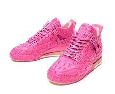 Hender Scheme Jordan 4 Pink Crocodile