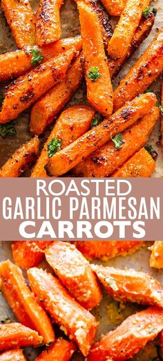 Garlic Parmesan Carrots - Roasted carrots tossed with a delicious garlicky and buttery parmesan cheese coating.Roasted Garlic Parmesan Carrots - Roasted carrots tossed with a delicious garlicky and buttery parmesan cheese coating. Carrot Recipes, Vegetable Recipes, Vegetarian Recipes, Cooking Recipes, Vegetarian Grilling, Healthy Grilling, Easter Recipes, Healthy Side Dishes, Vegetable Dishes