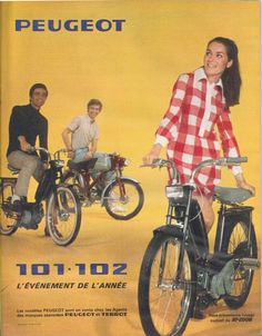 Vélomoteurs Peugeot 101 et 102 - Paris Match, 29 juin 1968
