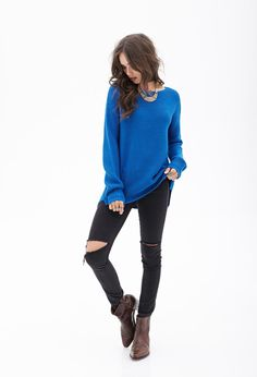Waffle Knit Sweater | Forever 21 - 2000121208