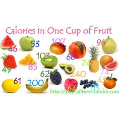 Calories In One Cup Of Fruit!
