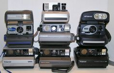 Polaroid Close Up Spectra Pro System 600 Ultra Lot of 7 Instant Film Cameras #Polaroid