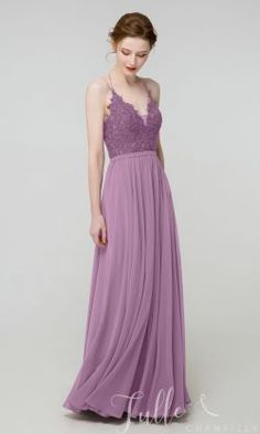 Long Halter Lace Bridesmaid Dress with Side Slit TBQP504#wedding #weddinginspiration #bridesmaids #bridesmaiddresses #bridalparty #maidofhonor #weddingideas #weddingcolors #tulleandchantilly