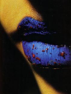 Close up beauty shot of blue lips photographed by Richard Burbridge. Lip Makeup, Beauty Makeup, Candy Lips, Love Lips, Kissable Lips, Glamorous Makeup, Beautiful Lips, Lip Art, Makeup Inspiration