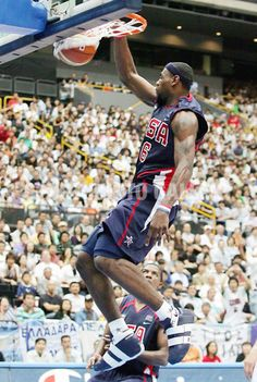 #LeBron was the only #USA player in the 2006 World Championship to do what? @OfficialNBAQuiz