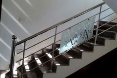 Cost of Stainless Steel Handrail Works Steel Stairs Design, Steel Grill Design, Staircase Railing Design, Modern Stair Railing, Steel Gate Design, Staircase Handrail, Balcony Railing Design, Home Stairs Design, Stainless Steel Stair Railing