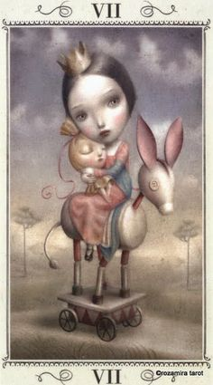 VII. The Chariot - Nicoletta Ceccoli Tarot by Nicoletta Ceccoli