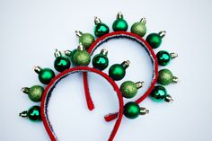 DIY ornament headband. Perfect topper for my ugly Christmas sweater this year!