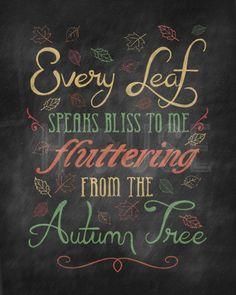 Autumn Leaves Color Chalkboard Print by kendrahouse on Etsy Harvest Moon, Fall Harvest, Autumn Day, Autumn Trees, Autumn Leaves, Hello Autumn, Autumn Poem, Dark Autumn, Winter