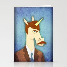 Movember Unicorn Stationery Cards by That's So Unicorny - $12.00