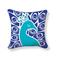 Peacock Double Sided Cotton Pillow for the bedroom