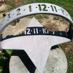 A sun dial that is accurate with time. and a cool idea for plasma cutworks.