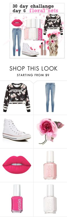 """""""30 day challange day 6"""" by stylegirl12356 ❤ liked on Polyvore featuring Givenchy, Converse, Gucci, Lime Crime and Essie"""