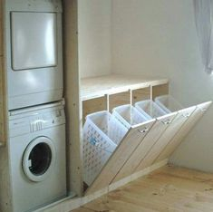 Laundry room space-saving idea