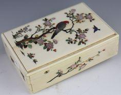 JAPANESE SHIBAYAMA IVORY BOX
