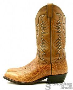 Abilene Mens Cowboy Boots Size 9 M Brown Leather Vintage Nice USA EUC Western #Abilene #CowboyWestern