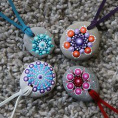 Stein Anhänger Halskette mandala