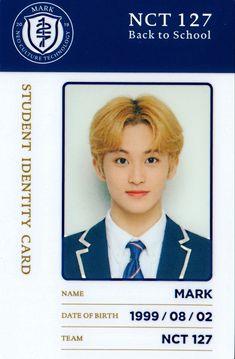 School Id, Dream School, Back To School, Pass Photo, Id Photo, Nct 127 Mark, Mark Nct, K Store, Nct Album